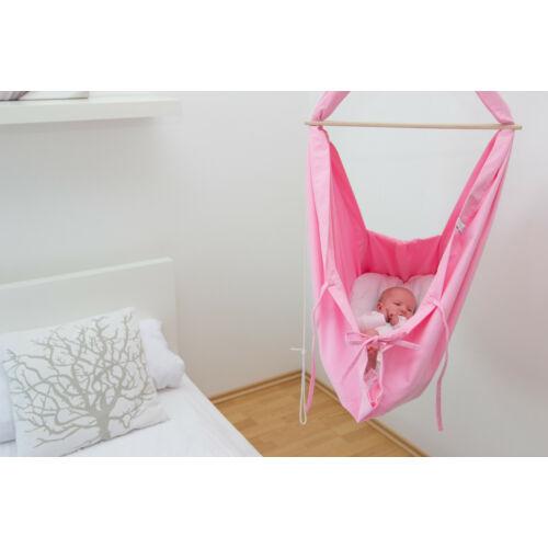 Hojdavak Baby – természetes bölcső hinta – pink